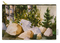 Three Birch By Rocky Stream Carry-all Pouch by Teresa Ascone