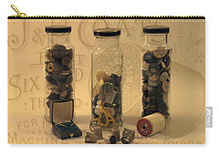 Carry-all Pouch featuring the photograph Three Button Jars by Sandra Foster