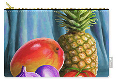 Three Fruits And A Vegetable Carry-all Pouch by Anthony Mwangi
