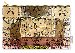 Three Gods, Founders Of Chinese Medicine Carry-all Pouch by Wellcome Images