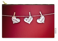 Three Hearts Carry-all Pouch by Jan Bickerton