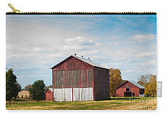 Carry-all Pouch featuring the photograph Three In One Barns by Debbie Green