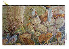 Three Little Javelinas Carry-all Pouch