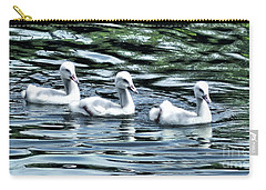 Carry-all Pouch featuring the photograph Three Little Flappers by Adam Olsen