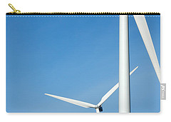 Three Mighty Windmills In A Row Against A Blue Sky. Carry-all Pouch