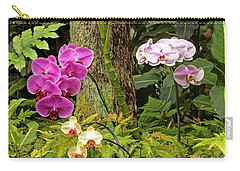 Three Orchid And A Tree Carry-all Pouch