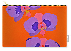 Carry-all Pouch featuring the mixed media Three Orchids by Michele Myers