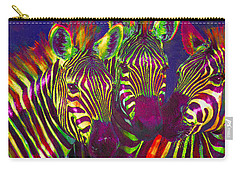 Three Rainbow Zebras Carry-all Pouch