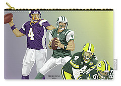 Carry-all Pouch featuring the digital art Three Stages Of Bret Favre by Thomas J Herring