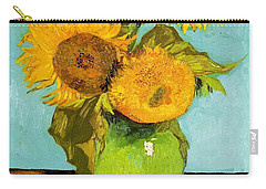 Three Sunflowers In A Vase Carry-all Pouch