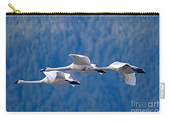 Three Swans Flying Carry-all Pouch