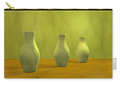 Carry-all Pouch featuring the digital art Three Vases II by Gabiw Art