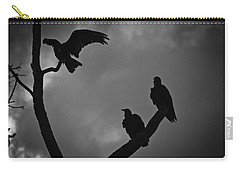 Carry-all Pouch featuring the photograph Three Vultures by Bradley R Youngberg