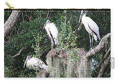 Three Wood Storks Carry-all Pouch