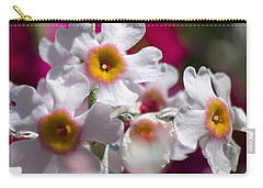 Three Yellow Faces Carry-all Pouch by Spikey Mouse Photography
