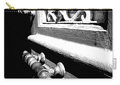 Carry-all Pouch featuring the photograph Through An Open Door Into Darkness by Vicki Spindler