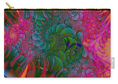 Carry-all Pouch featuring the digital art Through The Electric Garden by Elizabeth McTaggart