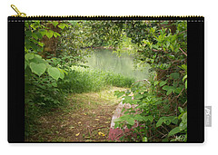 Carry-all Pouch featuring the photograph Through The Forest At Water's Edge by Absinthe Art By Michelle LeAnn Scott