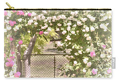 Carry-all Pouch featuring the photograph Through The Rose Arbor by Elaine Teague