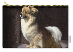 Tibetan Spaniel Painting Carry-all Pouch by Rachel Stribbling