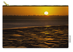 Carry-all Pouch featuring the photograph Tidal Pattern At Sunset by Jeff Goulden