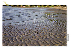 Carry-all Pouch featuring the photograph Tidal Pattern In The Sand by Jeff Goulden