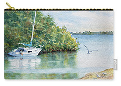 Carry-all Pouch featuring the painting Tide's Out by Roger Rockefeller