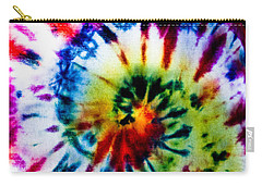 Tie Dyed T-shirt Carry-all Pouch by Cheryl Baxter