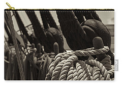 Tied Up Black And White Sepia Carry-all Pouch