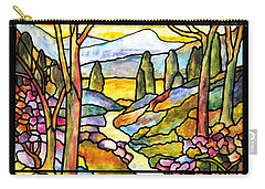 Tiffany Landscape Window Carry-all Pouch by Donna Walsh