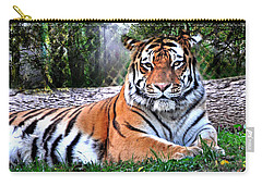 Carry-all Pouch featuring the photograph Tiger 2 by Marty Koch