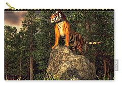 Tiger By The Lake Carry-all Pouch