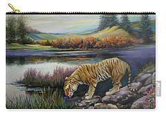 Tiger By The River Carry-all Pouch