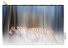 Tiger In The Mist Carry-all Pouch