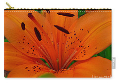 Carry-all Pouch featuring the photograph Tiger Lily by Bianca Nadeau