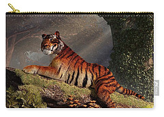 Tiger On A Log Carry-all Pouch