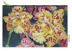 Carry-all Pouch featuring the painting Tiger Orchid by Jane Girardot