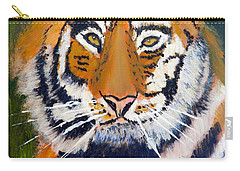 Carry-all Pouch featuring the painting Tiger by Pamela  Meredith