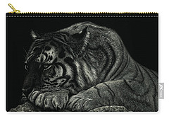 Tiger Power At Peace Carry-all Pouch by Sandra LaFaut