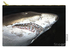Carry-all Pouch featuring the photograph Tiger Shark by Sergey Lukashin