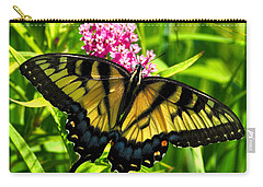 Carry-all Pouch featuring the photograph Tiger Swallotail by Adam Olsen