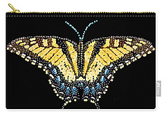 Tiger Swallowtail Butterfly Bedazzled Carry-all Pouch