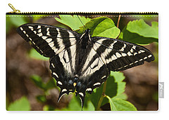 Carry-all Pouch featuring the photograph Tiger Swallowtail Butterfly by Jeff Goulden