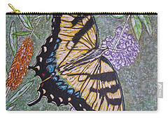 Tiger Swallowtail Butterfly Carry-all Pouch by Kathy Marrs Chandler