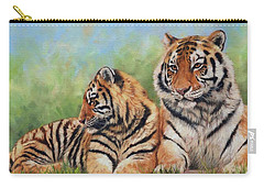 Tigers Carry-all Pouch by David Stribbling