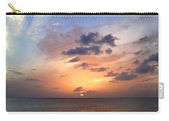 Tiki Beach Caribbean Sunset Carry-all Pouch