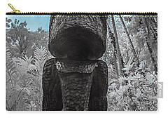 Tiki Man In Infrared Carry-all Pouch