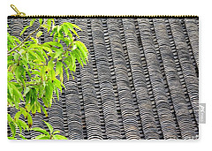 Tiled Roof Carry-all Pouch by Ethna Gillespie