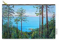 Carry-all Pouch featuring the painting Timber Cove On A Still Summer Day by Asha Carolyn Young