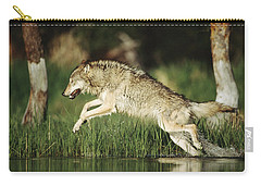 Timber Running Through Water Carry-all Pouch